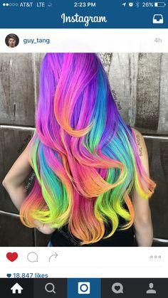 Fruity pebbles unicorn hair