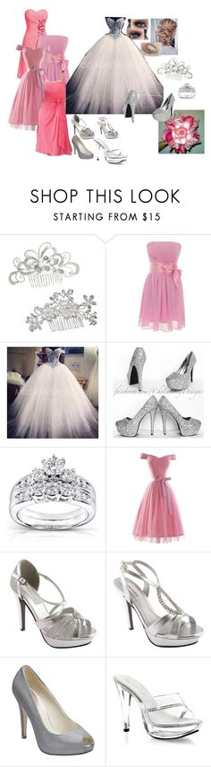 """Wedding Collection"" by cliffordreyanna ❤ liked on Polyvore featuring Kobelli, Touch Ups, Dyeables, Pink Paradox London and Fabulicious"