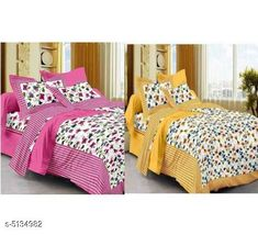 Bedsheets Trendy Cotton 90X100 Double Bedsheets  Fabric: Cotton No. Of Pillow Covers: 4 Thread Count: 170 Multipack: Pack Of 2 Sizes: Queen (Length Size: 100 in Width Size: 90 in Pillow Length Size: 27 in Pillow Width Size: 17 in) Country of Origin: India Sizes Available: Queen   Catalog Rating: ★4 (490)  Catalog Name: Attactive Cotton 100X90 double Bedsheets vol 2 CatalogID_758007 C53-SC1101 Code: 896-5134982-7971