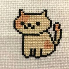 All 38 Neko Atsume Cross Stitch Patterns (Bundle! Kawaii Cross Stitch, Small Cross Stitch, Just Cross Stitch, Cross Stitch Animals, Cross Stitch Designs, Cross Stitch Patterns, Cat Cross Stitches, Cross Stitching, Cross Stitch Embroidery