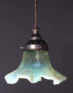 FF. Vaseline glass pendant
