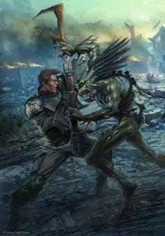 Tau Kroot vs Imperial Guardsmen