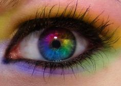 cool contacts lenses rainbow - Google Search