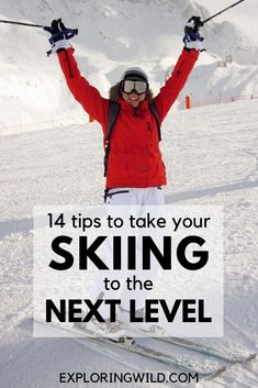 It can be tough for intermediate downhill skiers to break into more advanced terrain, but I promise you can do it. Here are 14 actionable skiing tips you can try right now to get comfortable skiing harder runs this winter. Snowboarding For Beginners, Snowboarding Tips, Ski And Snowboard, Ski Tips For Beginners, Winter Hiking, Winter Fun, Winter Snow, Wallpaper Cross, Wallpaper Quotes