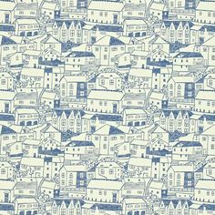 Sanderson St Ives wallpaper and fabric, also comes in green colourway