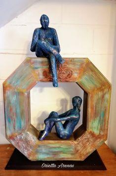 Dot Work Mandala, Clay Art, Decoupage, Lion Sculpture, Pottery, Statue, Paper, Frame, Crafts