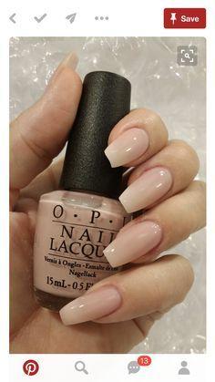 OPI nail polish, nude natural nails