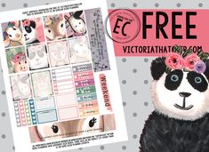 Free Printable Sweet Animals Planner Stickers from Victoria Thatcher