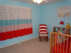 dr. seuss nursery - paint some characters on the wall; works for a baby boy or girl