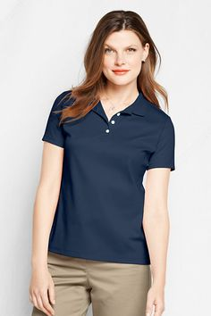 Women's Short Sleeve Pima Polo Shirt from Lands' End  Have