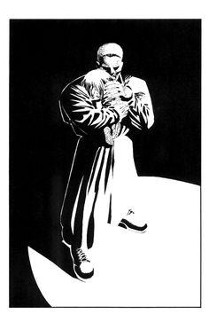Frank Miller Sin City, Frank Miller Art, Frank Miller Comics, Comic Book Artists, Comic Books Art, Comic Art, Sin City Comic, Green Lantern Comics, Bruce Timm