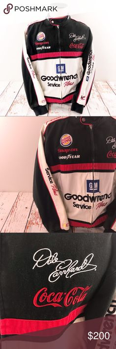 Spotted while shopping on Poshmark: Rare Dale Earnhardt Signature Nascar Racing Jacket! Dale Earnhardt, Nascar Racing, Nascar Costume, Fashion Design, Fashion Trends, Man Shop, Prompt, Customer Service, Sleeves