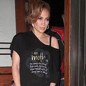 Jennifer Lopez Wearing Our I Am Mother V Top Http Peaceloveworld
