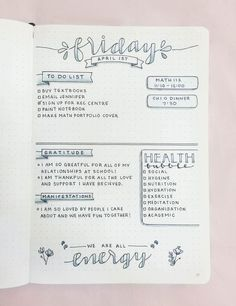 chic-studies: My daily bullet journal layout for today!