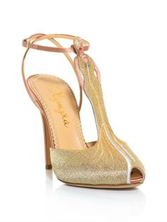 Charlotte Olympia Mae West Gold Glitter Sandals €954 Spring 2014 #Shoes #Heels