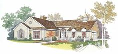 Eplans Cottage House Plan - Private Master Bedroom Suite - 1689 Square Feet and 3 Bedrooms from Eplans - House Plan Code HWEPL03312