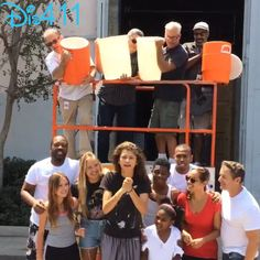 Zendaya and her K.C. Undercover cast take on the ALS Ice Bucket Challenge August 19, 2014