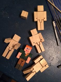 Minecraft Materials, Minecraft Toys, Minecraft Challenges, Wood Projects, Woodworking Projects, Building For Kids, Wood Creations, Pinocchio, Wooden Blocks