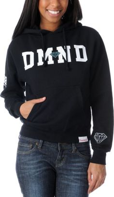 Diamond Supply Girls 98 Black Pullover Hoodie at Zumiez : PDP