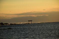 strong wind at off shore. #morito shrine, #hayama