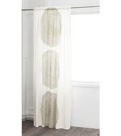 Marimekko Pippurikerä-sivuverho, valkoinen-ruskea Hall, Marimekko, Curtains, Shower Curtain, Bedroom, Printed Shower Curtain