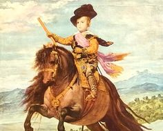Prince Baltasar Carlos on His Pony by Velazquez - a Frameable Vintage 1954 Art Print