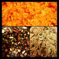 Chamorro Food: chicken kelaguen, red rice & finadene