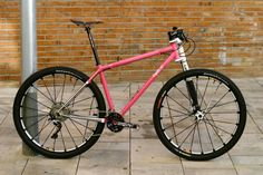 Cyclo Bicycles custom 29er mountain bike with steel Columbus LIFE tubes and Cannondale Lefty fork