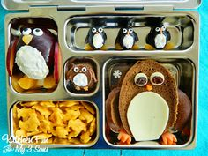 Kitchen Fun With My 3 Sons: Penguin Bento Lunch in a Planetbox!