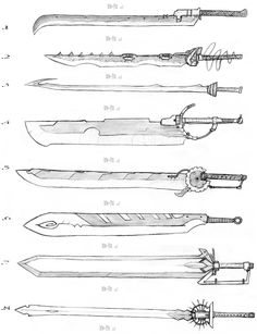 Sword Designs 2 by Iron-Fox.deviantart.com on @deviantART