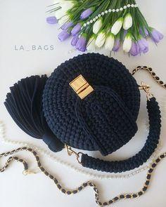 Crochet Bag Pattern Is A Stunner - Page 9 of 24 Crochet Backpack, Backpack Pattern, Crotchet Bags, Knitted Bags, Free Crochet Bag, Crochet Yarn, Crochet Handbags, Crochet Purses, Handbag Tutorial