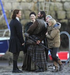 Filming in a harbor in Dysart within Fife, Scotland from 1-3 June 2015
