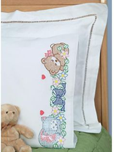 Kids Birthday Cross Stitch Kits 11CT Counted Stamped Bear Owl Elephant Dog