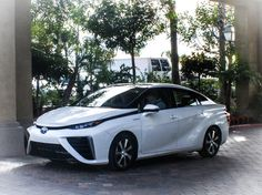 Toyota unveiled its 2016 Mirai model, which uses fuel cell technology. The quirky look of its front-end gives it a signature look with a techie finish of LED headlights. The Mirai is Toyota's next big powertrain gamble, on a par with the gasoline-electric hybrid system of the Prius.