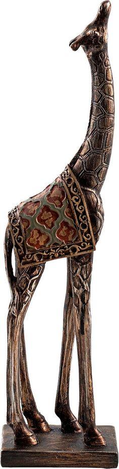 Artikeldetails:  Tolle Skulptur, Für Ihr dekoratives Zuhause, Im afrikanischen Stil,  Maße:  Maße (B/T/H): 6/9/36 cm,  Material/Qualität:  Holz und Metall,  ...