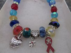 AUTISM AWARENESS Multi Charm Bracelet by NURSESCREATIONS on Etsy, $16.00