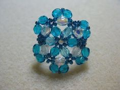 How to bead a ring - Ocean Blue Ring Part 1