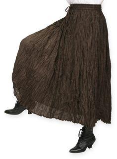Hestia Broomstick Skirt -  Brown