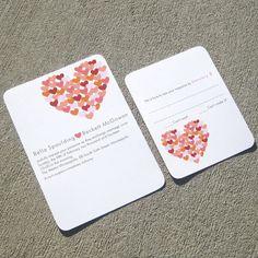 Wedding Invitations Modern Hearts Invitation  by StelieDesigns, $5.00