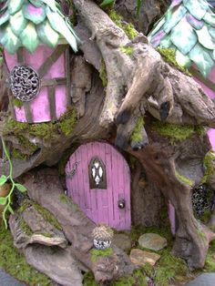124 OOAK Driftwood Fairy House unfurnished Dollhouse by tyjulmere