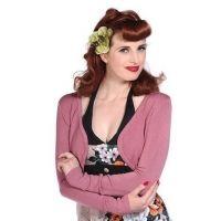 Vintage Style Bolero Cardigan Pink