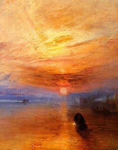 British painter J.M.W. Turner had a fascination with weather patterns that he painted in the Romantic style. Shown here is a detail from The Fighting Temeraire (1838). http://www.ibiblio.org/wm/paint/auth/turner/