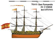 El San Fernando era un navío de línea español construido en el astillero de La Habana (Cuba) según el sistema de Jorge Juan. Fue botado el 24 de julio de 1765, y sirvió en la armada española hasta que fue vendido a un particular en 1815.  Se trataba de un buque de una eslora de 54,88 metros, una manga de 15,6 metros y un puntal de 7,8 metros. Su tripulación era de 878 personas.  En el momento de su entrega contaba con un total de 80 cañones, que fueron aumentados en 1798 a 94