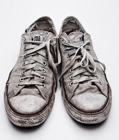 There is something about worn, dirty, white converse. The more used they look the cooler they are. It shows that you love them and you've been on hundreds of adventures in them. Worn = a lifetime of memories.