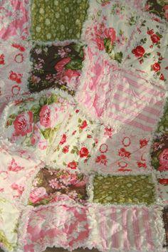 Crib Rag Quilt Baby Girl Crib Bedding Shabby Chic Nursery Verna Mosquera Pirouette