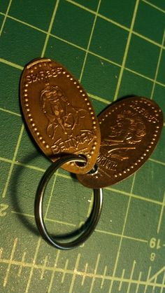 keychain six flags souvenir souvenir pennies