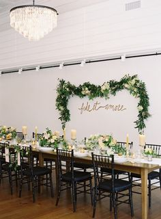 green color wedding reception  idea; photo: Eric Kelley