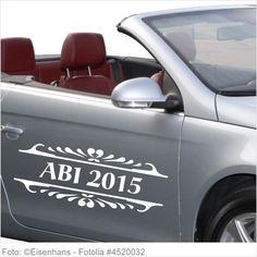Autoaufkleber und Sticker ABI 2015 mit Ornament