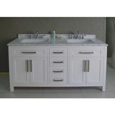 Contemporary Art Websites Bella inch Bathroom Vanity White White Includes a Solid Wood Cabinet Soft Close Drawers a White Marble Countertop and Two Ceramic Sinks Pinterest