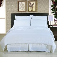 Solid White 8-Piece Bedding Set Super...   $119.99